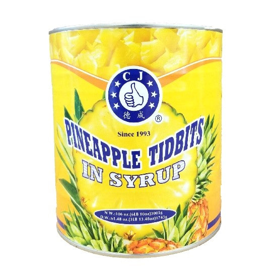 Pineapple Tidbits in Juice, Canned - #10 Can