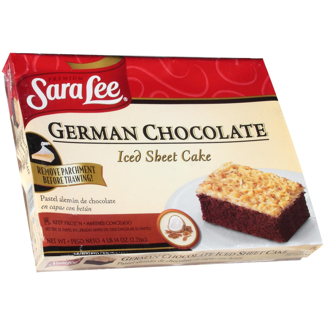 Iced German Chocolate Cake, Half-Sheet, Unsliced, Frozen - 75 OZ