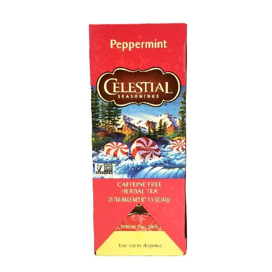 Herbal Peppermint Tea, Hot, Caffeine Free - 25 EA
