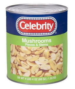 Mushroom Pieces & Stems, Canned - #10 Can