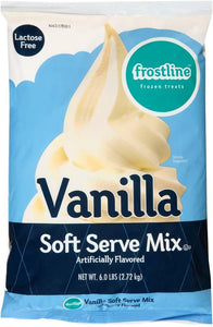 Soft Serve Vanilla Mix, Powder for Use in Soft Serve Machine - 6 LB