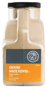 White Pepper, Ground, Jug - 5 LB