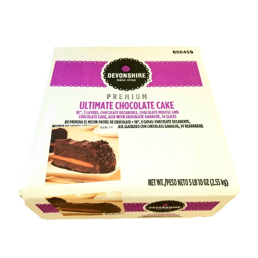 Iced Chocolate Cake, 2-Layer, Sliced - 90 OZ