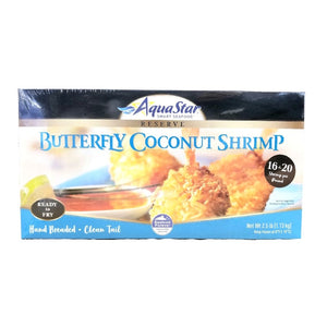 Breaded Coconut Shrimp, Raw, 16-20, Frozen - 2.5 LB