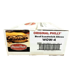 Beef Philly Cheesesteak, Sliced, Raw & Frozen - 40/4 OZ Portions