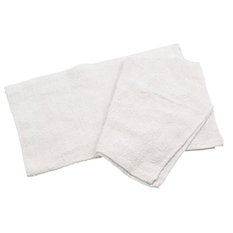 Bar Towel, 16X19, 100% Cotton White - 12 EA