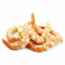 Load image into Gallery viewer, Cooked Shrimp,  21-25 White, Peeled & Deveined, Tail-On, Frozen -  2 LB