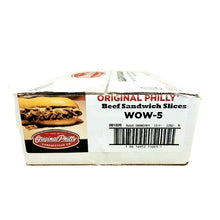 Load image into Gallery viewer, Beef Philly Cheesesteak, Sliced, Raw & Frozen - 32/5 OZ Portions