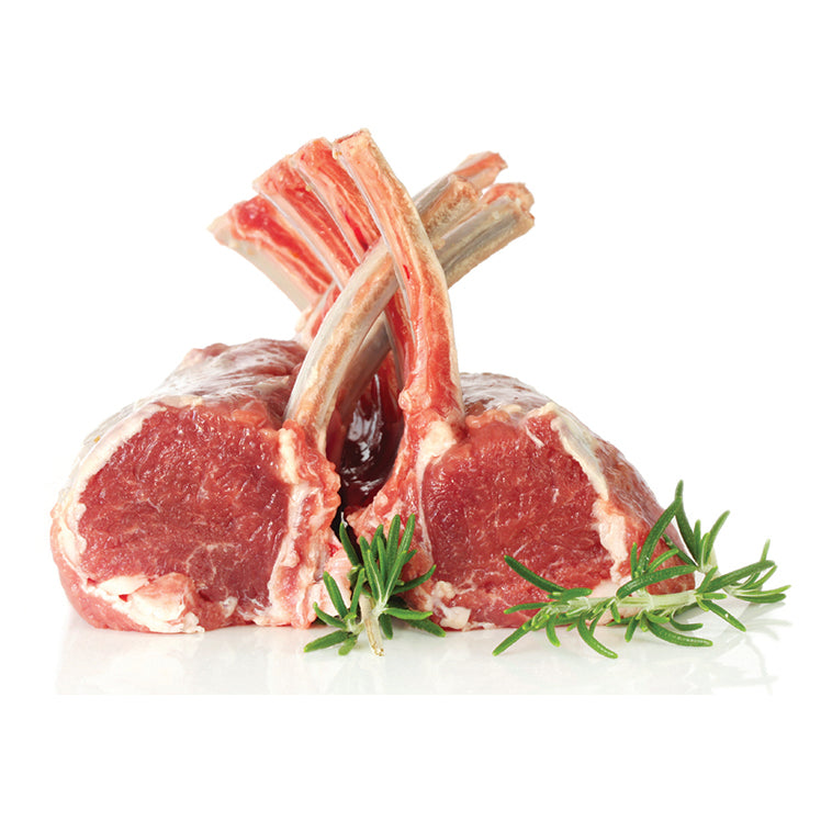 Rack Of Lamb, 8 Rib, Cap-Off/Bone-In Frenched, Raw, Frozen - 2 Pieces/16-24 OZ Average*