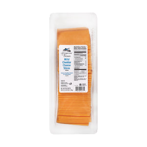 Cheddar Cheese, Mild, Sliced,  .75 Oz Slices - 2.5 LB