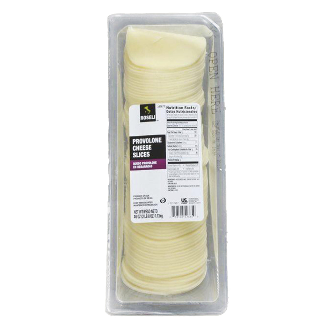 Provolone Cheese,  Sliced, .5 OZ Tray - 2.5 LB