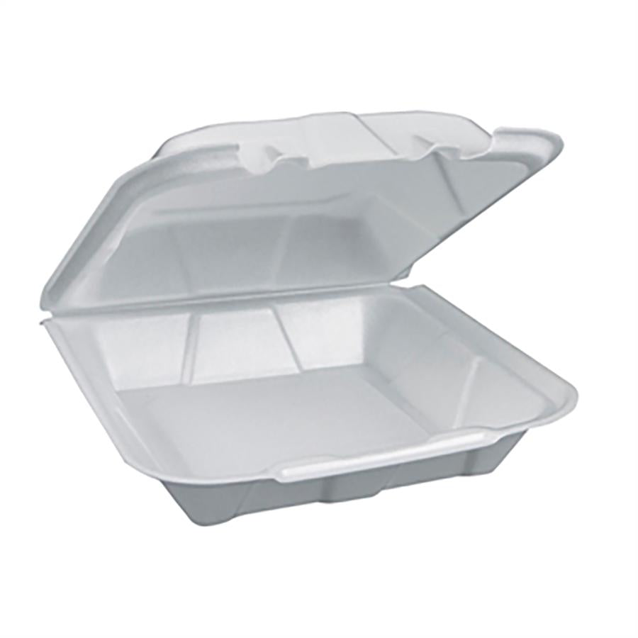 Foam Containers, White, 9X9, 1 Compartment - 150 EA