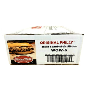 Beef Philly Cheesesteak, Sliced, Raw & Frozen - 27/6 OZ Portions