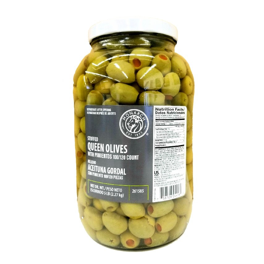 Green Olives, Stuffed With Pimiento - 1 Gallon