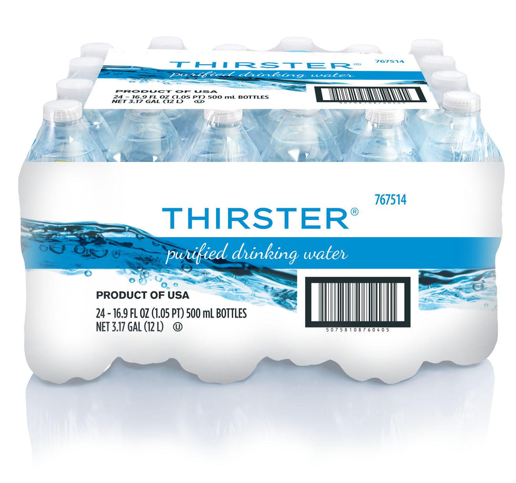 Purified Water, Plastic Bottle - 24 Bottles/16.9 OZ Each