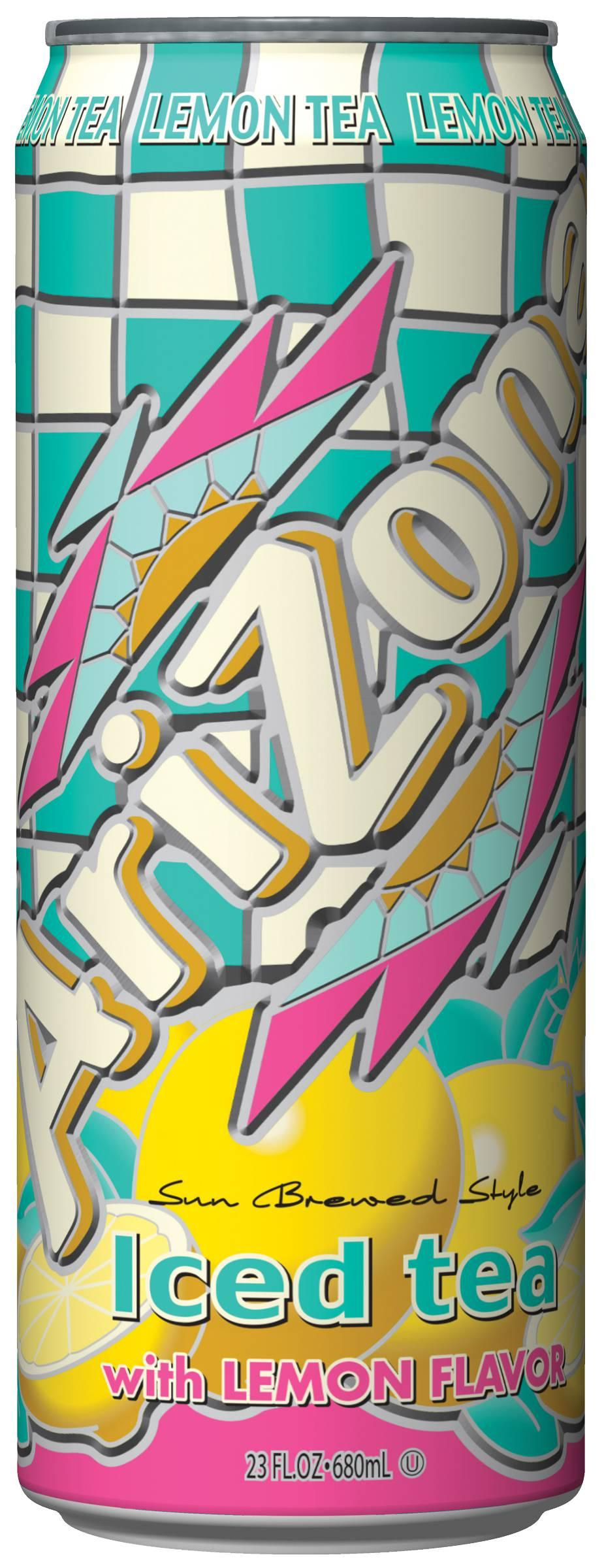 Arizona Black Lemon Tea, Sweetened - 24/23 OZ Cans