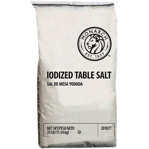 Table Salt, Iodized, Bag - 25 LB