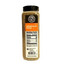 Load image into Gallery viewer, Black Pepper, Ground, Shaker - 18 OZ