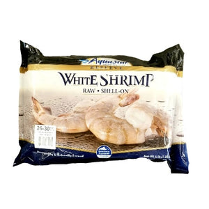 Shrimp, White, 26-30, Headless, Shell & Tail On, Raw/Frozen- 4 LB