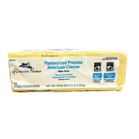American Cheese, Sliced, 120 CT - 5 LB