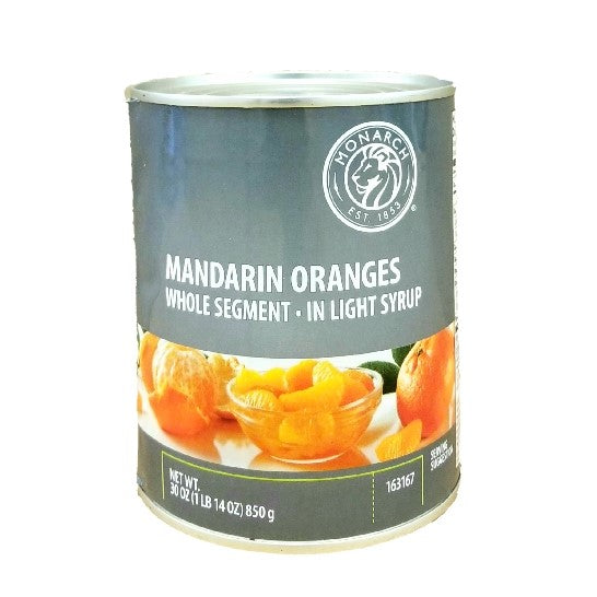Mandarin Orange, Whole Segment, In Light Syrup, Canned - 30 OZ