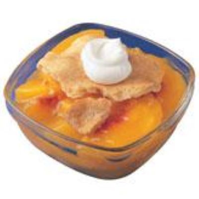 Peach Cobbler in Foil Pan, Raw, Frozen - 80 OZ