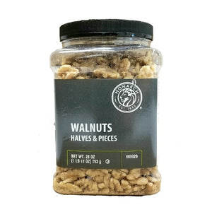 Walnut, Halves & Pieces, Unsalted & Shell Off, Jar - 28 OZ