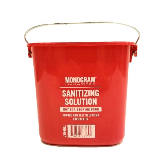 Cleaning Bucket, Red, 3 QT - EACH