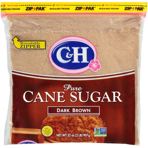 Sugar, Cane, Dark Brown, Granulated, 2 LB - EACH