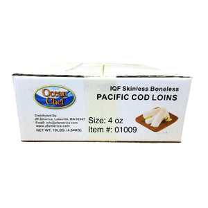 Pacific Cod, Boneless, Skinless, Wild, 4 OZ - 10 LB
