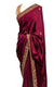Deep Wine and Gold Stone Saree