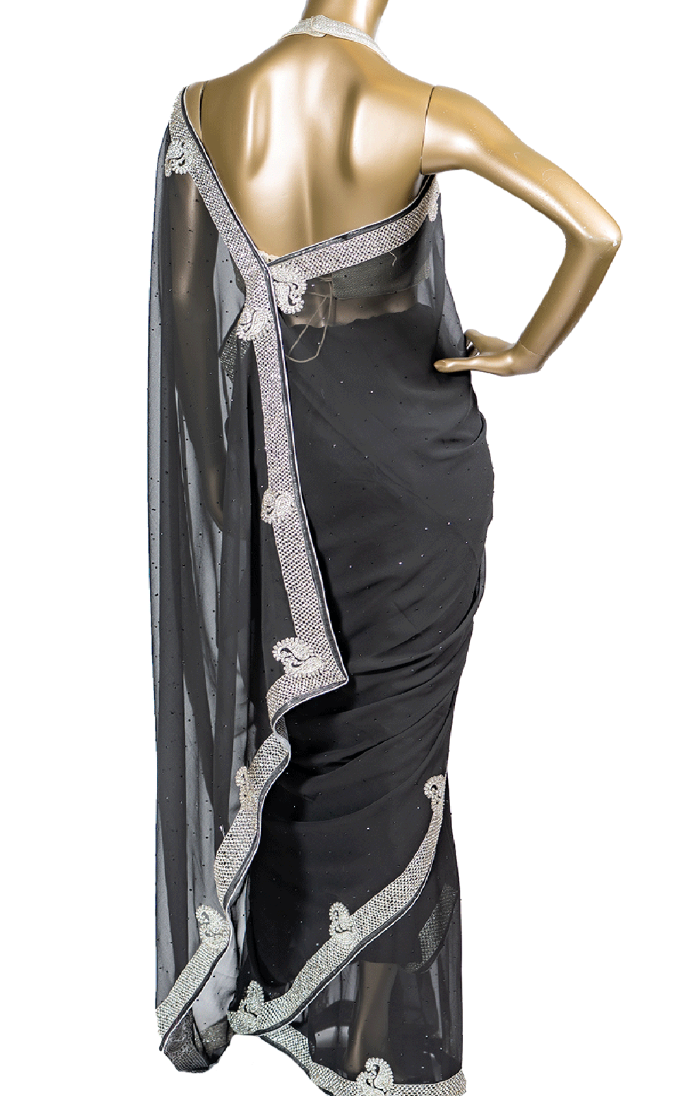 Black Stone and Swarovski Saree