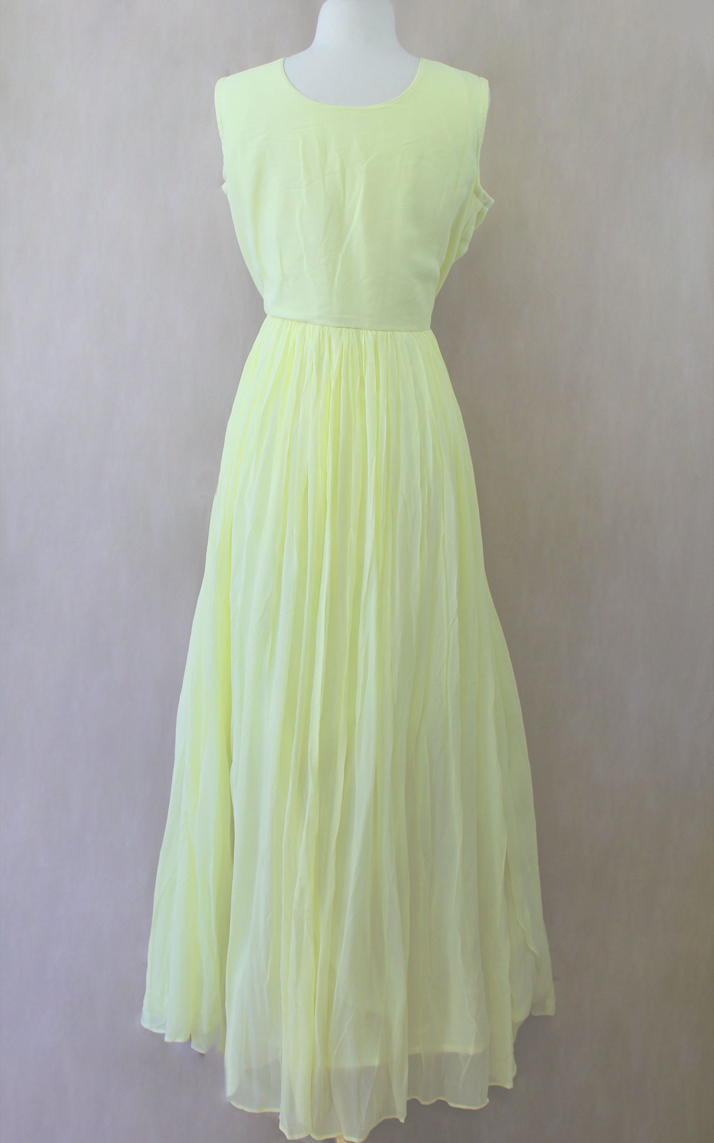 Yellow and Green Thread Gown