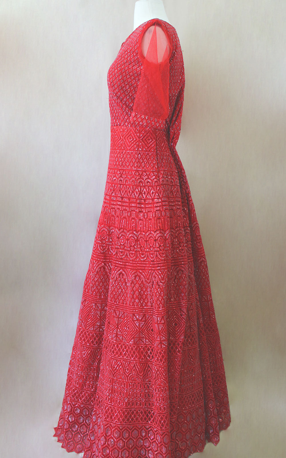 Red Sequins Gown