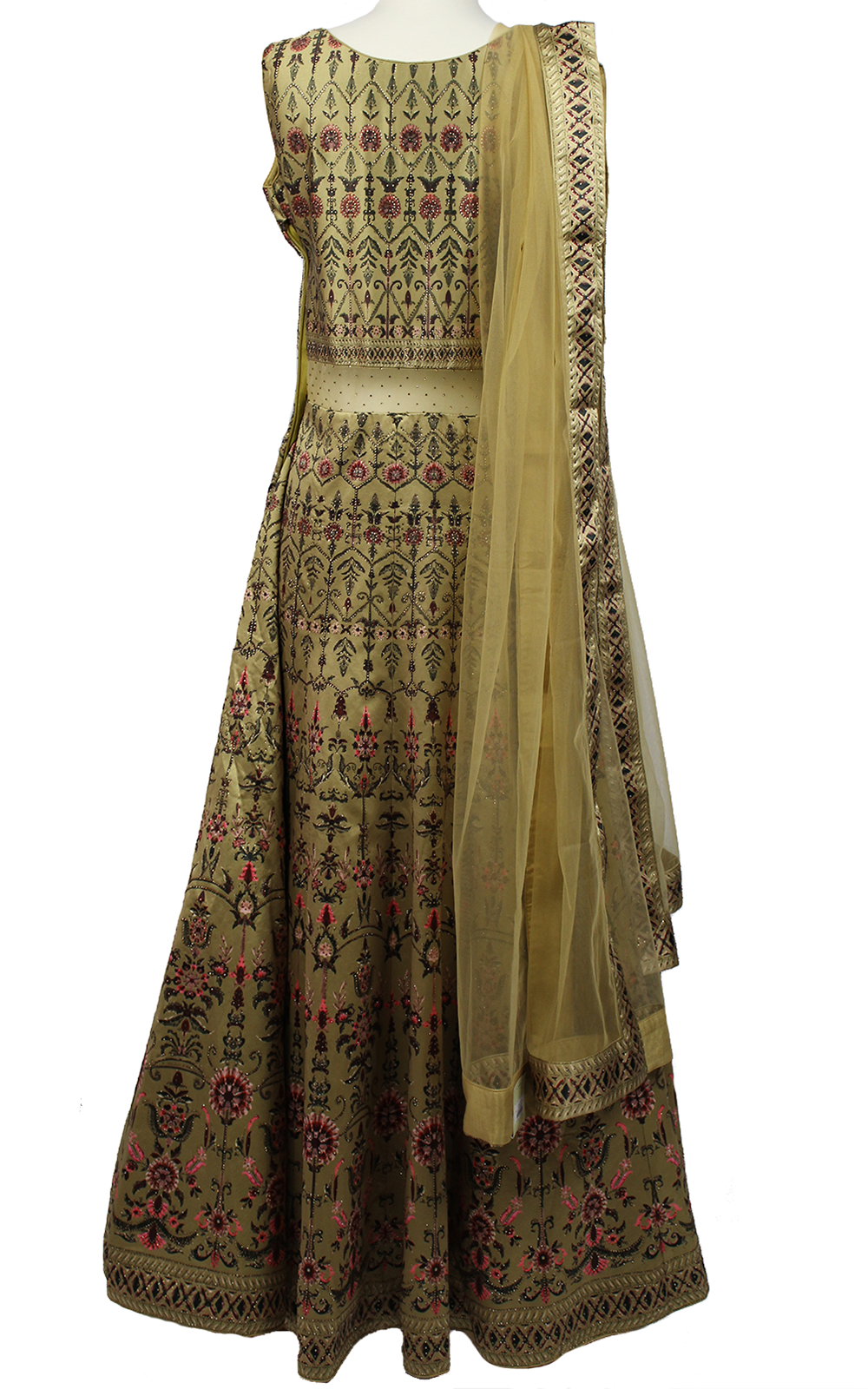 Mustard Digital Print Gown