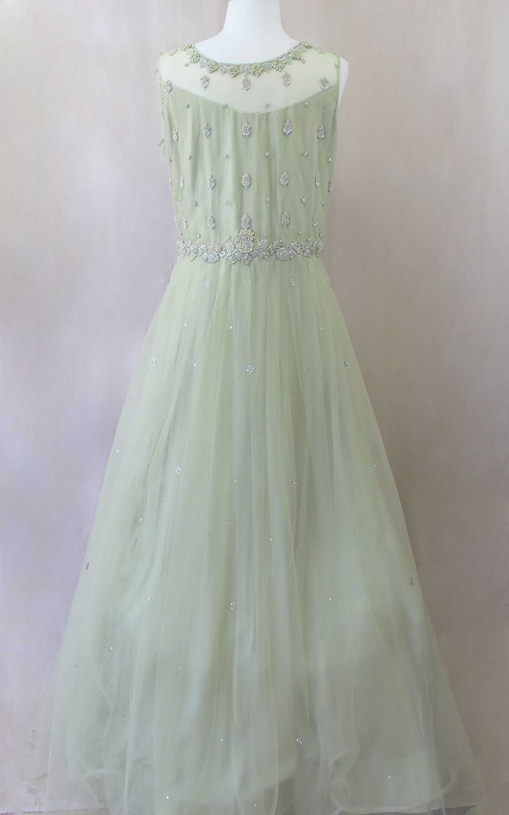 Mint Green Pearl Gown