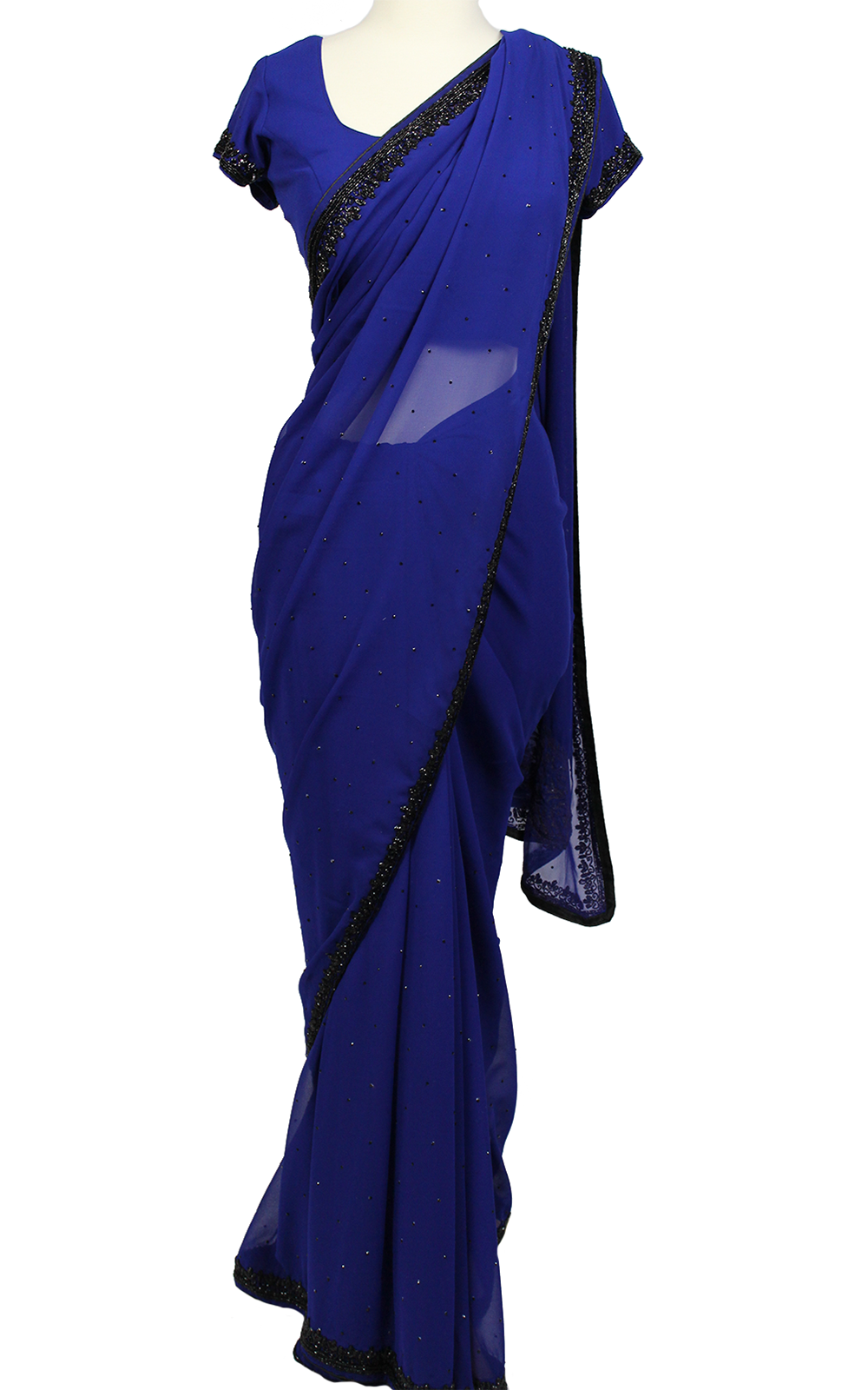 Royal Blue Cut Dana Saree