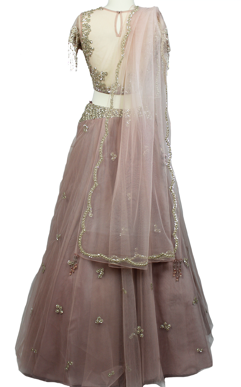 Dusty Pink Sequins Bead Lehenga