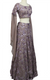 Lavender Scoop Neck Sequins Lehenga