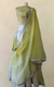 White and Yellow Organza Gotta Patti Lehenga