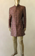 Purple Pattern Brocade Sherwani