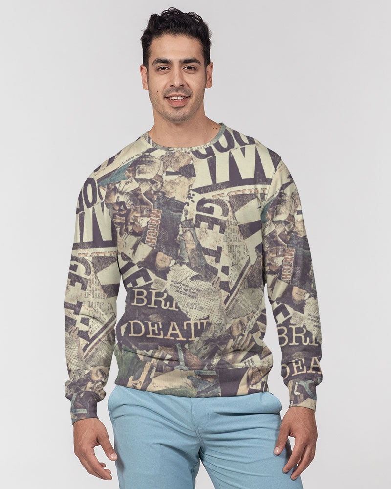Newspaper Men's Classic French Terry Crewneck Pullover