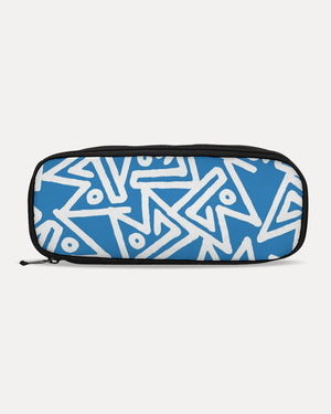 Doodle On Sky Blue Pencil Case