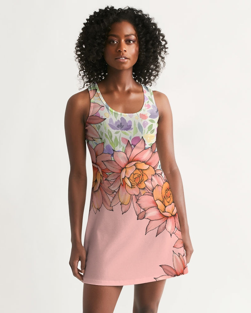 Orchis Blooming Women's Racerback Dress