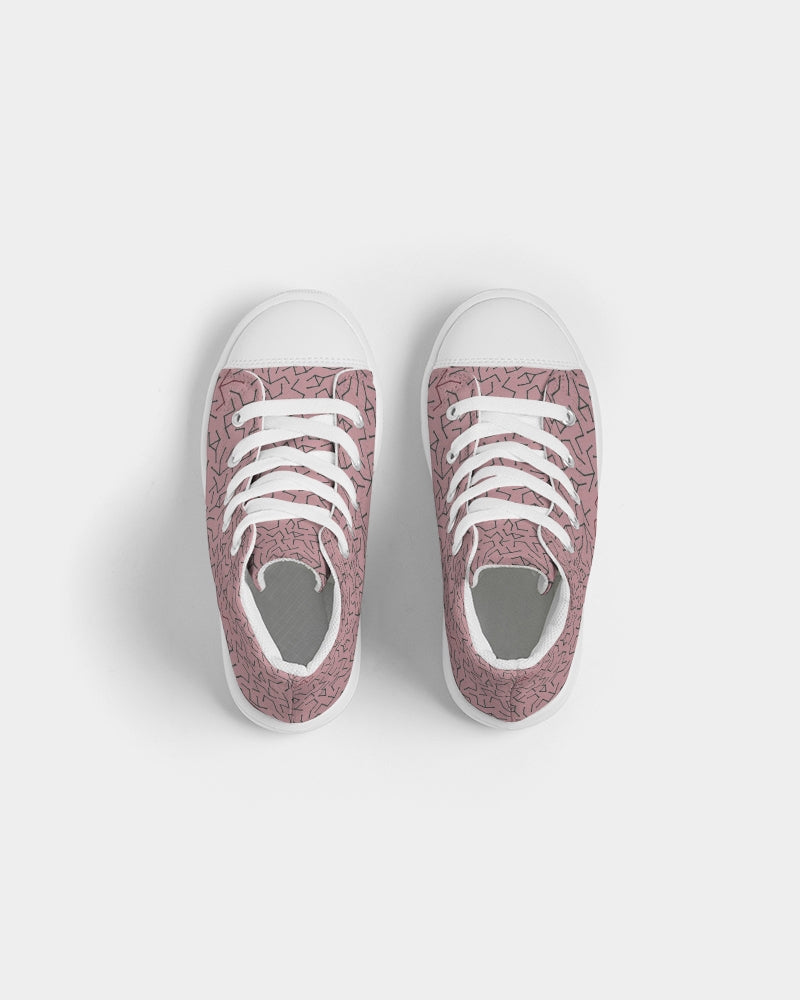 Pink Maze Kids Hightop Canvas Shoe