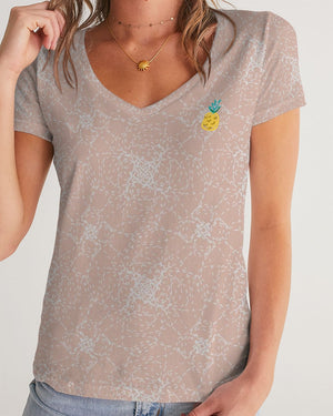 Pineapple Women's V-Neck Tee