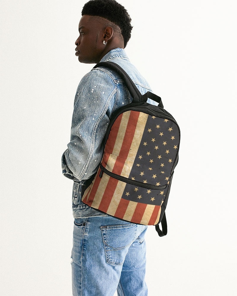 Flag Small Canvas Backpack