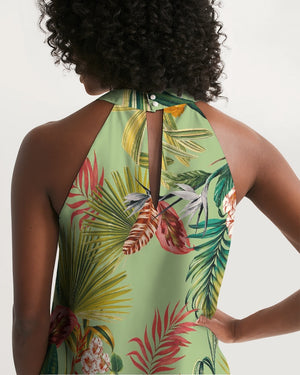 Tropical Feeling Women's Halter Dress