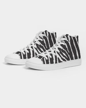 Zebra Men's Hightop Canvas Shoe