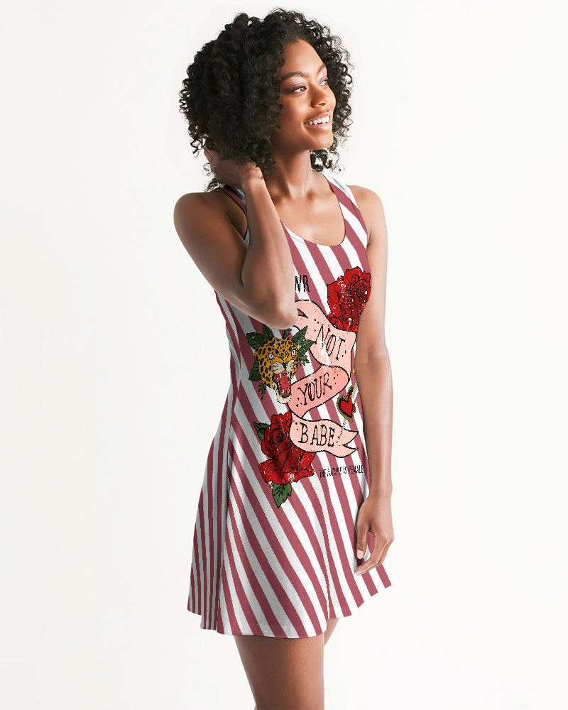 Flowers And Stripes Women's Racerback Dress